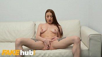 Fake Agent Redhead Michelle Klein loves to suck cock