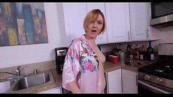 Hot mom helps thigh job stepson
