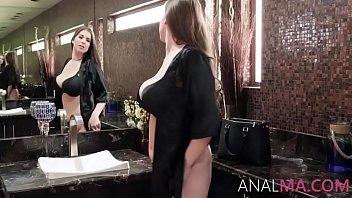 Hot Brunette MILF Stretches Her Asshole- Alex Chance