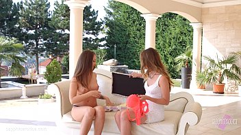 Hot lesbian lovemaking by Sapphic Erotica with Capri Anderson and Angelina Brill Image