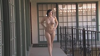 Around nude walking Sexy-brunette-risky-public-nude-caught-interview