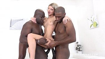 XXXtreme interracial double penetration gangbang gapes Gina Gerson's holes