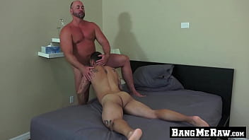 Hung mature guy thrusts his fat dick up his lovers ass