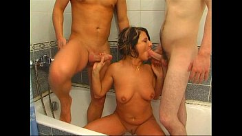 MILF with two cocks