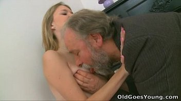 Old Goes Young - Maya's tiny tits get bounced when old dude fucked her