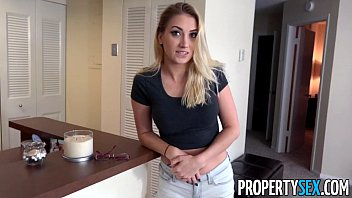 PropertySex - Check bouncing tenant fucks her landlord to avoid being evicted