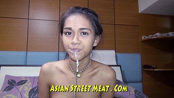 Sexy big titted thai slut Low class drain in indian slum