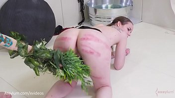 Young beaten and fucked Beautiful blonde cave woman gets an ass fucking, ass to mouth, and a beating with a tree branch jessica kay
