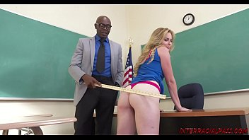 Lightly shaved vaginas - Schoolgirl britney light takes teachers big black dick