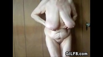 Saggy breast grannies Granny showing off her saggy breasts