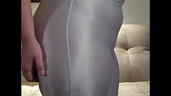 Phat Ass in White Spandex Shorts Big Booty PAWG