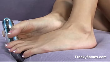 Whore foot  enjoys 2 b seduced later get pussy licked& pounded deep by fat cock