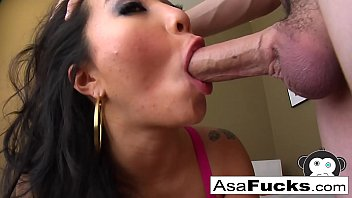 Superstar Asa Akira Is Known For Her Sloppy BJ's!