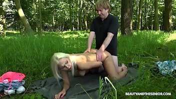 Juicy Teen Julia Parker Fucks Old Timer Felix in Nature