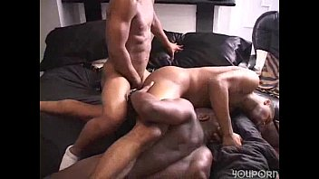 Three HOT gay brothers licking balls and sucking cocks