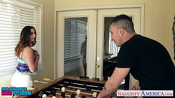Brunette cutie Ashley Adams gets nailed