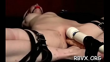 Lusty girl cums with a sex tool