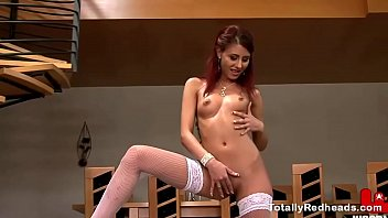 Bootylicious redhead fucked by a bunch of dudes