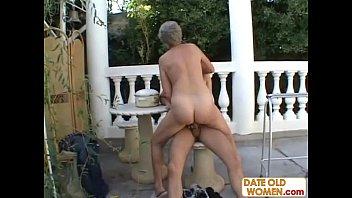 Old grandma sucks dick and fucks another dick