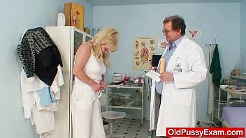 Shaved pusses Blonde gran dirty puss test and enema