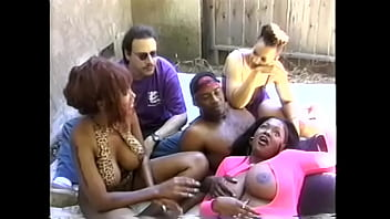 Spantaneeus Xtasty And Kim Eternity Called Couple Of Well-hung Studs To Knock Themselves Out During Real Outdoor Bacchanalia