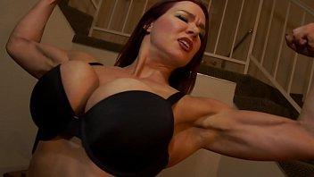 Domination female lifestyle - Muscular secretary dominates the boss