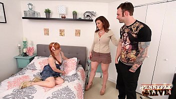 Sexy Penny Pax & her BF Fuck Sara Jay at her AirBnB!