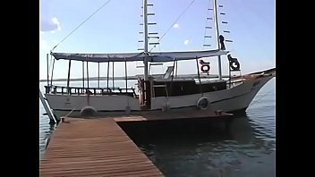 Blonde Latina Anal Fucked On Dock While Boats Pass By