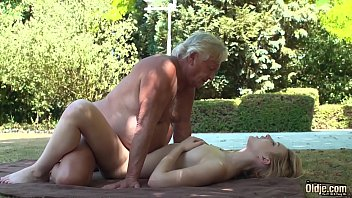 Foreign college student rides grandpas cock sucks it good and gets her pussy fucked hardcore صورة