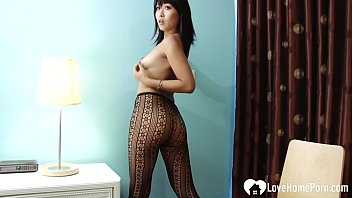 Asian free man Asian stepmom knows how to tease in pantyhose