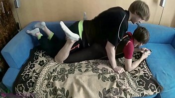Wet twink in diving suit gets used by a horny friend, receives cumshot on his bare soles