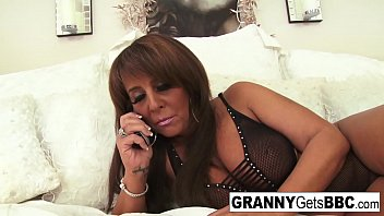 Mature granny hardcore sex Busty brunette mature takes the black cock in her bed