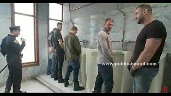 Cop gets in gay restroom extreme sex