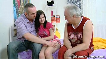 Are celibate men easily tempted to have sex Old goes young - alena and her man are together in bed