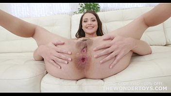 Anal dildo solo Avi love anal sex testing the impaler size s and m for the wonder toys