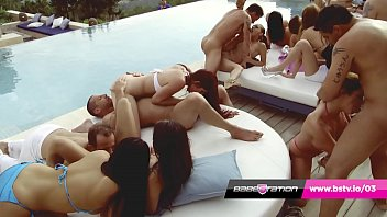 Huge Babestation Euro Orgy in Ibiza