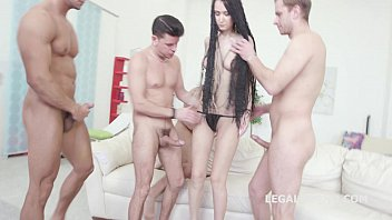 Triple d breasts - 7on1 angie moon gangbang with triple anal, prolapse and 7 facials
