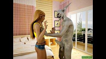 Ugly Batman. 3D monster comic