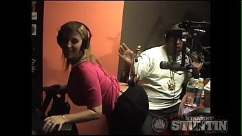 Radio station z100 keyword strip - Sarah j balances a ciroc bottle on her ass