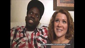 Home interracial sex video - Huge titty babe riding black cock