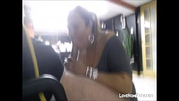 Horny latina hairdresser gives me a blowjob