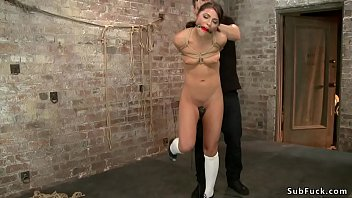 Hung for limbs brunette slave is toyed