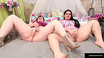 Thick Ladies Marcy Diamond And Angelina Castro Masturbate Together!