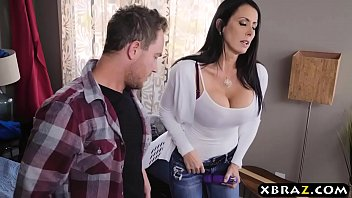 Stepmom with big tits fucks stepson while dad is downstairs porno izle