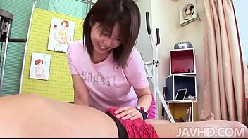 Cute and horny Rika Kitano uses her talents to coax a guy to flip her around and