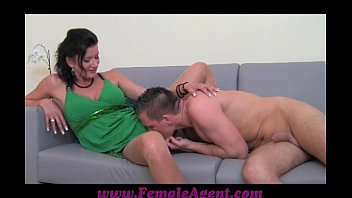 Fake talent blowjob Femaleagent stud has natural talent