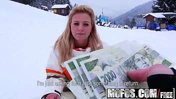 Public sex flashing cock Mofos - public pick ups - flashing double-ds while she skis starring nathaly teges
