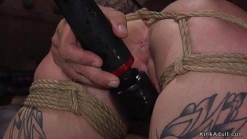 Alt couple fucking in rope bondage