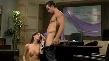 Image: Busty brunette boss rides her employee's big cock (NAME PLEASE)