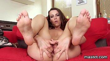 Unusual czech nympho spreads her wet snatch to the bizarre